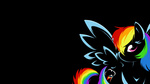 bamboodog braukoly rainbow_dash simple wallpaper white_on_black