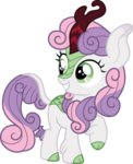 cloudyglow highres kirin species_swap sweetie_belle vector