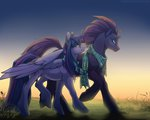 kerydarling princess_twilight scarf shipping tempest_shadow twilight_sparkle twizzlepop