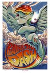 andy_price cloud flying highres rainbow_dash traditional_art