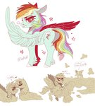 gilda princess_twilight rainbow_dash rude_gesture shipping sutexii swearing twilight_sparkle