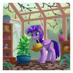 absurdres highres lilfunkman plant princess_twilight twilight_sparkle watering_can