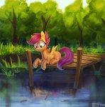 fish highres scootaloo selya_t trees water