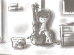 baww bipedal cello fongsaunder grayscale i_shall_not_use_my_hooves_as_hands instrument octavia_melody