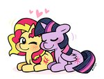 cuteosphere lowres princess_twilight shipping sunlight sunset_shimmer twilight_sparkle