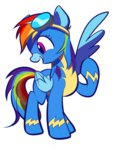 goggles highres rainbow_dash sion-ara wonderbolts