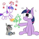 big_trouble drawing karpet-shark plushie smarty_pants spike toy twilight_sparkle young