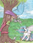 69beasii discord highres princess_celestia traditional_art tree