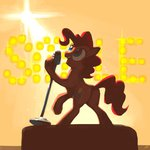 absurdres docwario highres microphone pinkie_pie text