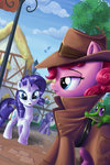absurdres clothes detective gummy hat highres pinkie_pie rarity sirzi