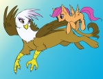 drawhooves gilda kein scootaffection scootaloo