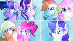 applejack euphoriiah fluttershy main_six pinkie_pie rainbow_dash rarity starlight_glimmer twilight_sparkle