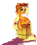 applejack kolshica wet_hair