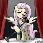 fluttershy johnjoseco singing tie