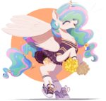 cheerleader clothes highres ncmares princess_celestia