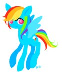 lowres rainbow_dash reyu simple transparent