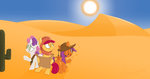 apple_bloom cutie_mark_crusaders desert extremeasaur5000 highres map scootaloo sweetie_belle