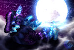 cloud djspark3 highres moon nighttime princess_luna