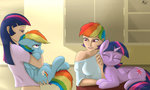 captainpudgemuffin humanized rainbow_dash self_interaction shipping species_confusion twidash twilight_sparkle unenthused