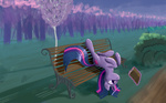 bench book eytosh magic twilight_sparkle
