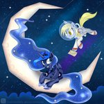 derpy_hooves letter moon princess_luna space_suit swanlullaby