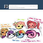applejack ask askmlcblobs blob fluttershy main_six pekou pinkie_pie rainbow_dash rarity twilight_sparkle