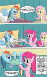 bandage bed comic fajeh fluttershy hospital_gown pinkie_pie rainbow_dash the_simpsons