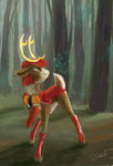 absurdres blackthorn deer highres superrobotrainbowowl