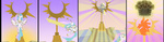 comic cyb3rwaste derpy_hooves highres princess_celestia raising_the_sun sun