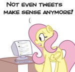 comic computer doge fluttershy gamergate highres perrydotto ponies_discover_the_internet the_fucking_fandom twitter