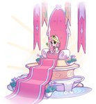 bobdude0 crown flowers highres scepter sweetie_belle throne