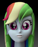 3d_model bust equestria_girls harikon rainbow_dash