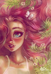 flowers fluttershy highres holivi humanized