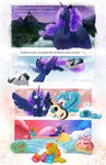 carrot_cake comic cup_cake esinololly highres original_character princess_luna rumble