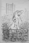 applejack filly flowers maytee traditional_art
