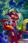 bat_pony bird highres holivi original_character parrot