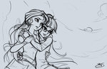 equestria_girls glasses humanized imdrunkontea princess_twilight shipping sunlight sunset_shimmer twilight_sparkle
