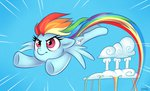 cloud flying rainbow_dash sorcerushorserus