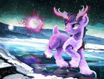 caribou highres magic snow species_swap superrobotrainbowowl twilight_sparkle