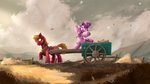 absurdres big_macintosh blackligerth cart highres sugar_belle