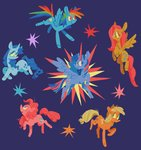 applejack astro_eden fluttershy highres main_six pinkie_pie princess_twilight rainbow_dash rarity twilight_sparkle