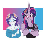 anthro blushing earthsong9405 manecut piercing rarilight raritwi rarity shipping tattoo twilight_sparkle