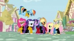 applejack beard beverly_crusher crossover data drunkill fluttershy geordi_la_forge jean_luc_picard main_six pinkie_pie ponyville rainbow_dash rarity screencap star_trek twilight_sparkle william_riker worf