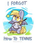ball chibi derpy_hooves mackinn7 tennis tennis_ball tennis_racquet