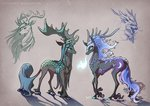 begasuslu highres kirin nightmare_moon queen_chrysalis species_swap