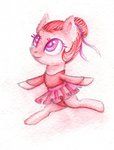 0okami-0ni absurdres background_ponies ballerina filly highres hoofer_steps traditional_art