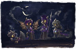 armor cloak cloud guard_pony helmet highres moon night_guard nighttime plainoasis shadowbolts spear weapon