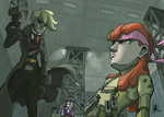 apple_bloom applejack humanized livestream metal_gear_solid revolver_ocelot solid_snake the_artrix twilight_sparkle