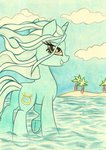 highres lyra_heartstrings pedrohander sea traditional_art water
