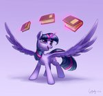 book highres luciferamon magic princess_twilight twilight_sparkle